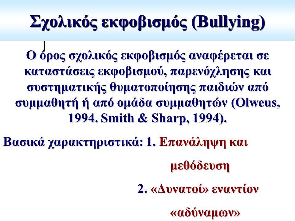 Σχολικός εκφοβισμός (Bullying)