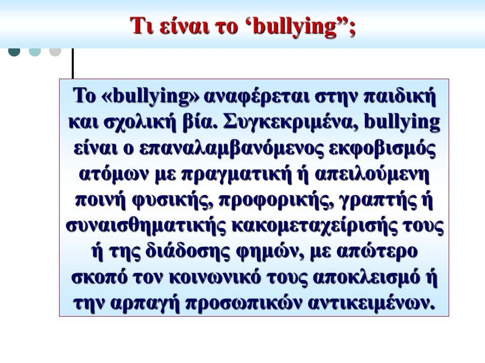 Τι είναι το 'bullying ;