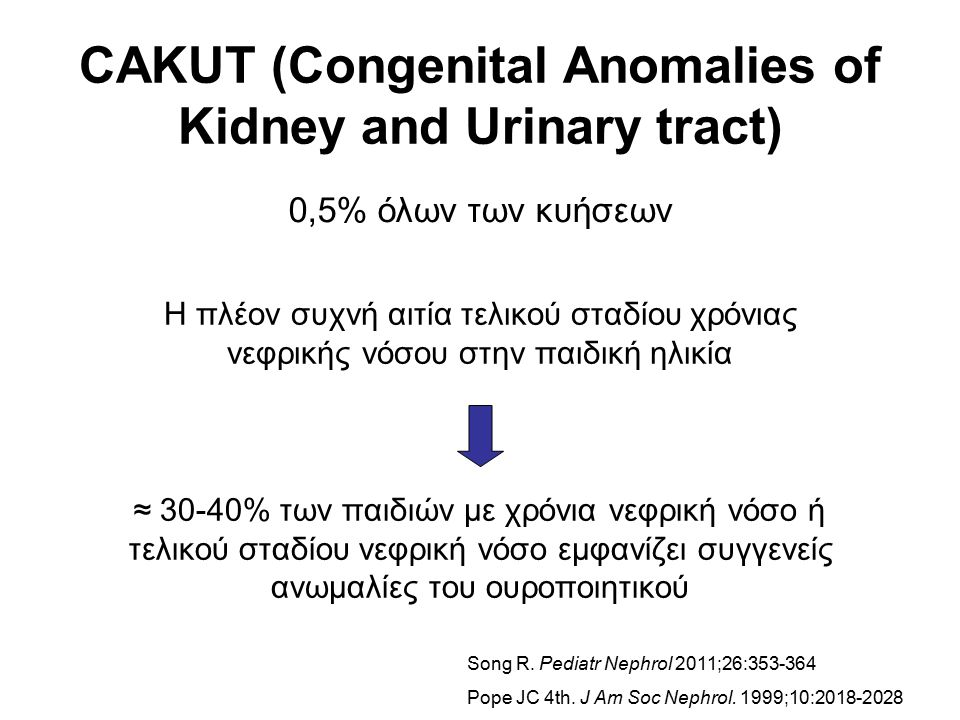CAKUT (Congenital Anomalies of Kidney and Urinary tract)