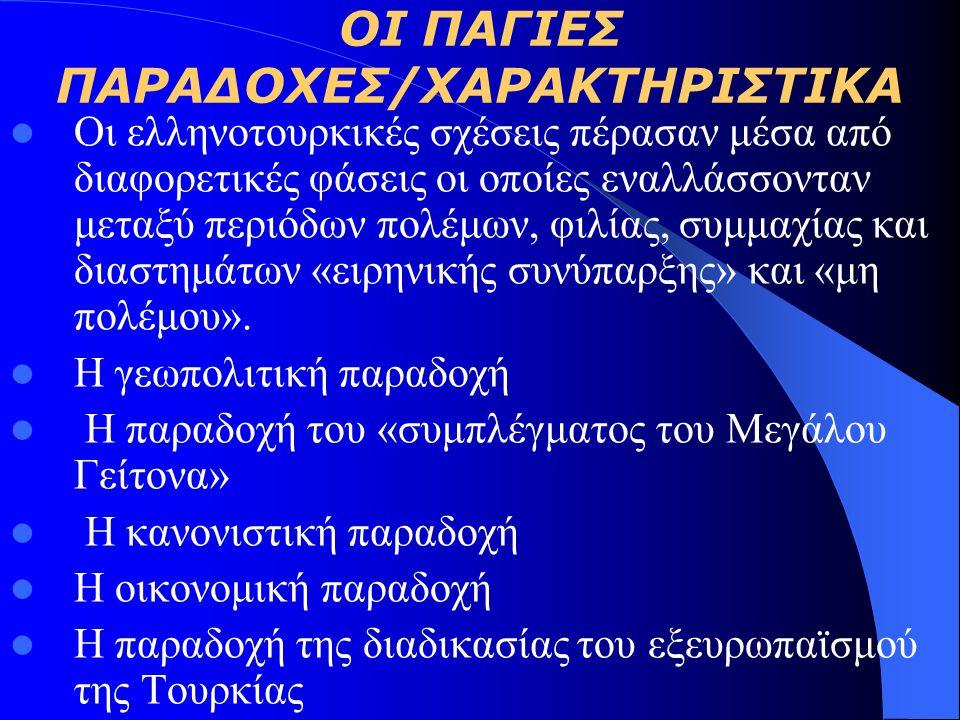 ΟΙ ΠΑΓΙΕΣ ΠΑΡΑΔΟΧΕΣ/ΧΑΡΑΚΤΗΡΙΣΤΙΚΑ