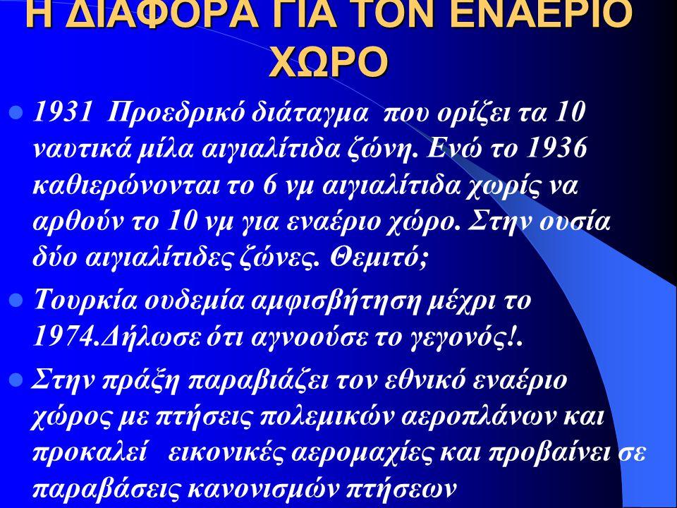 Η ΔΙΑΦΟΡΑ ΓΙΑ ΤΟΝ ΕΝΑΕΡΙΟ ΧΩΡΟ