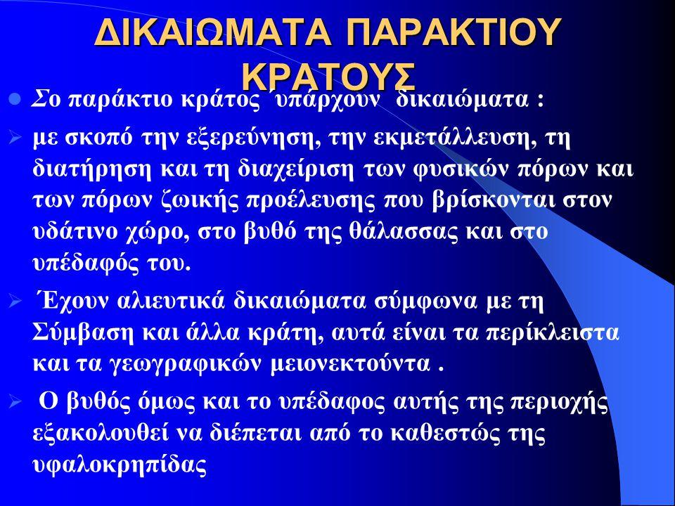 ΔΙΚΑΙΩΜΑΤΑ ΠΑΡΑΚΤΙΟΥ ΚΡΑΤΟΥΣ