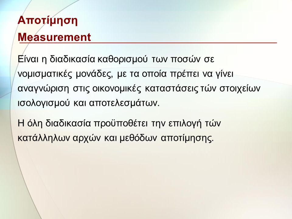 Αποτίμηση Measurement