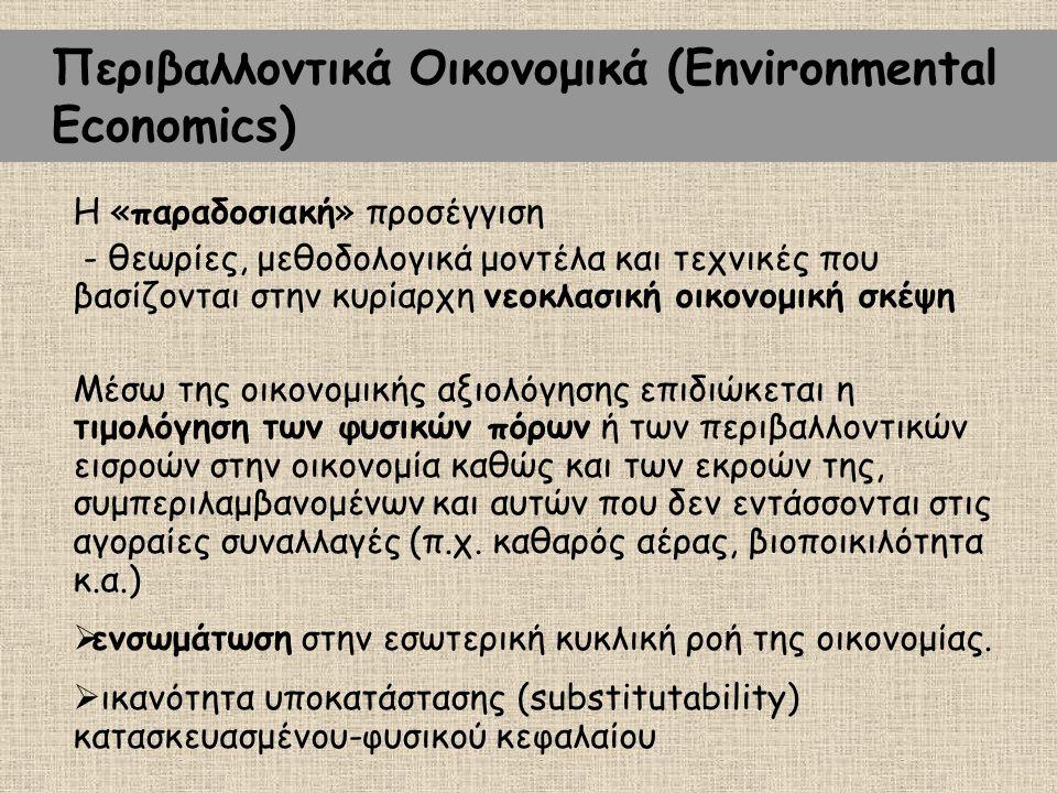 Περιβαλλοντικά Οικονομικά (Environmental Economics)