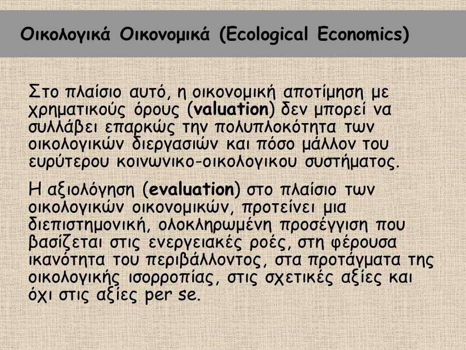 Οικολογικά Οικονομικά (Ecological Economics)
