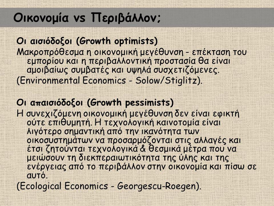 Οικονομία vs Περιβάλλον;