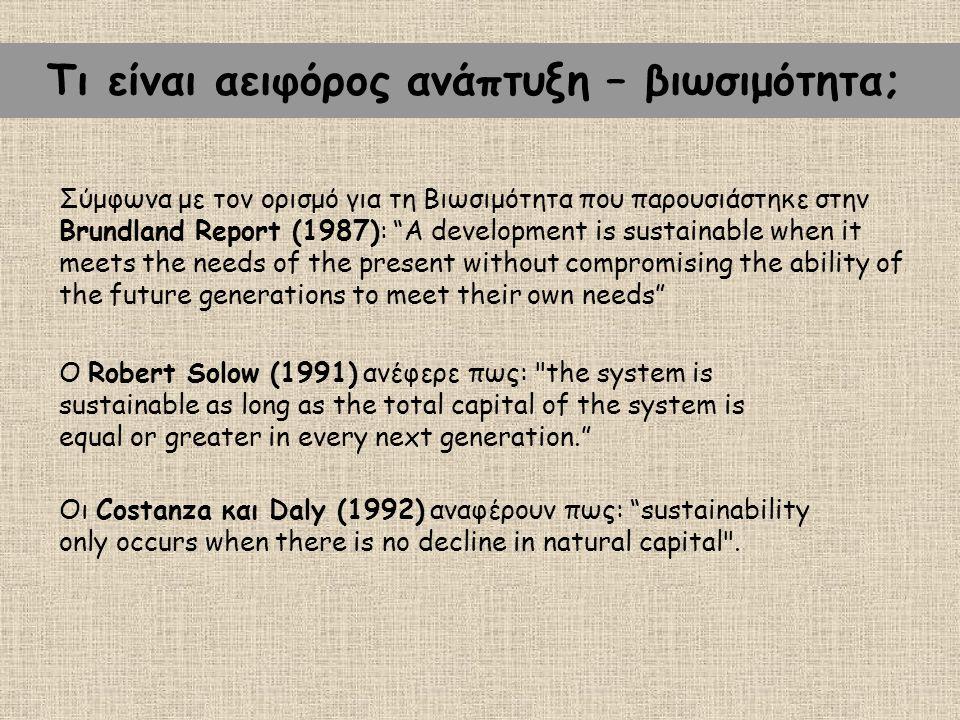 Τι είναι αειφόρος ανάπτυξη – βιωσιμότητα;