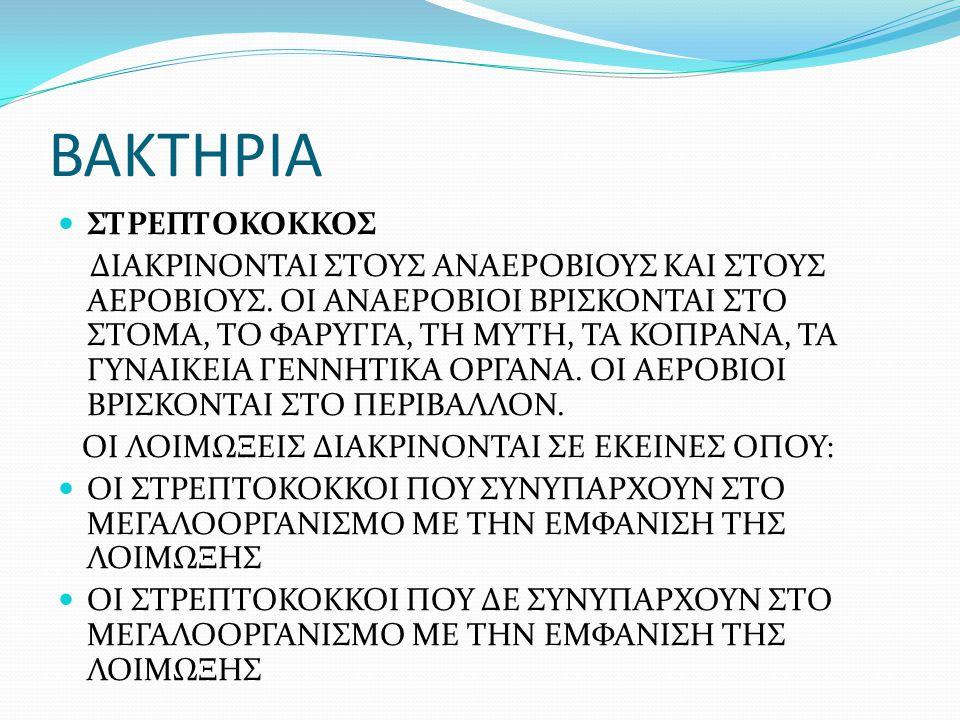 ΒΑΚΤΗΡΙΑ ΣΤΡΕΠΤΟΚΟΚΚΟΣ