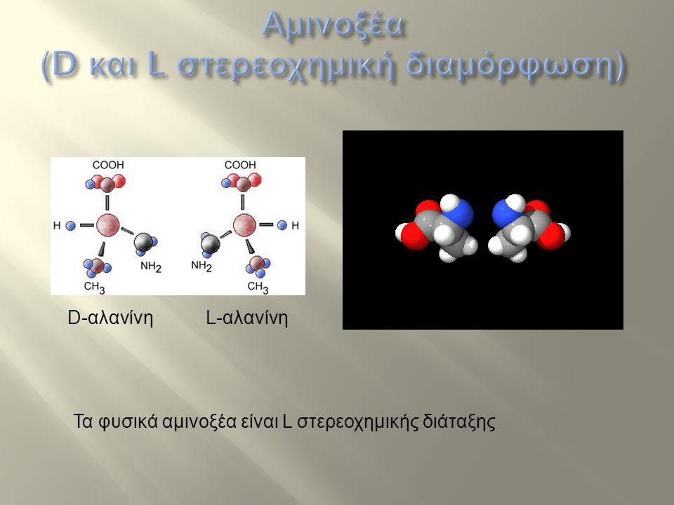 Αμινοξέα (D και L στερεοχημική διαμόρφωση)