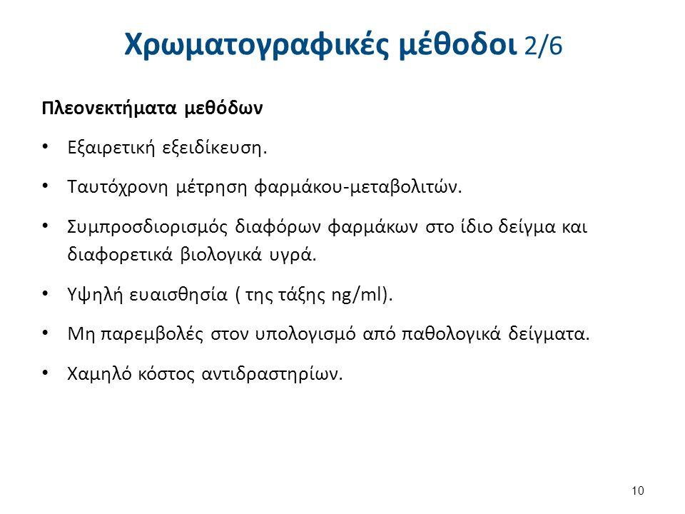 Χρωματογραφικές μέθοδοι 3/6