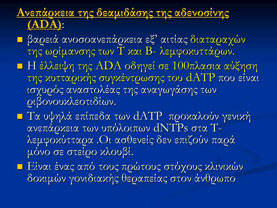 Ανεπάρκεια της δεαμιδάσης της αδενοσίνης (ΑDΑ):