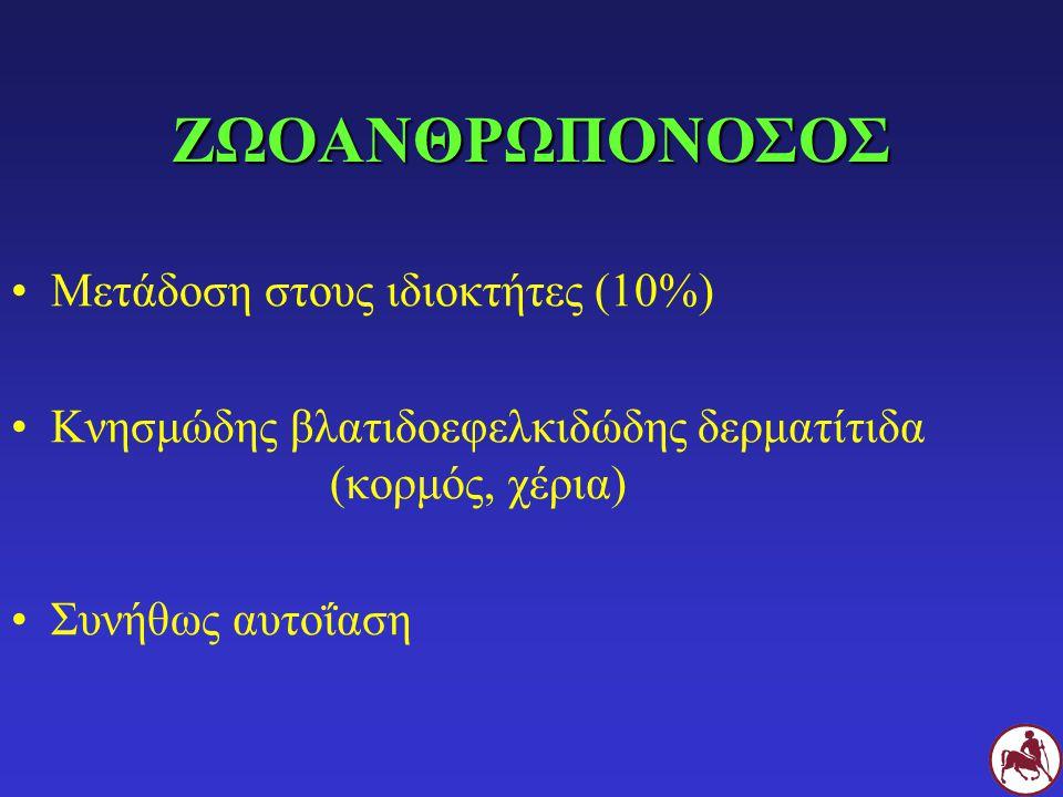 ΖΩΟΑΝΘΡΩΠΟΝΟΣΟΣ Μετάδοση στους ιδιοκτήτες (10%)