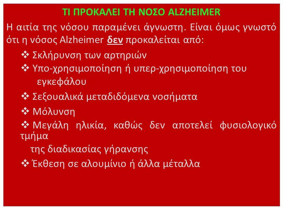 ΤΙ ΠΡΟΚΑΛΕΙ ΤΗ ΝΟΣΟ ALZHEIMER