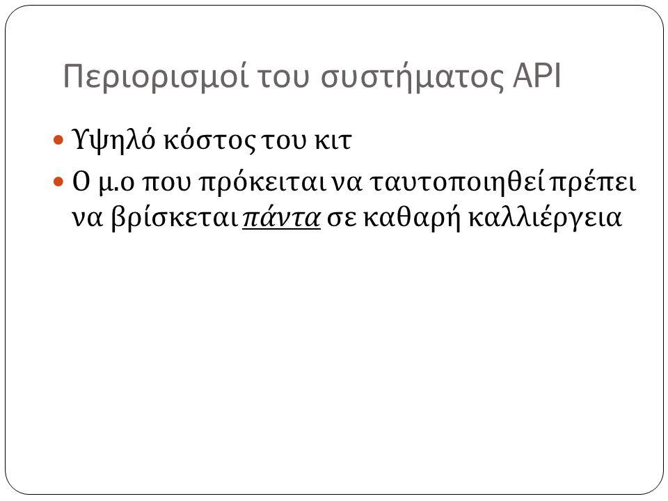 Περιορισμοί του συστήματος API