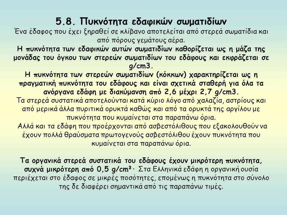 5.8. Πυκνότητα εδαφικών σωματιδίων
