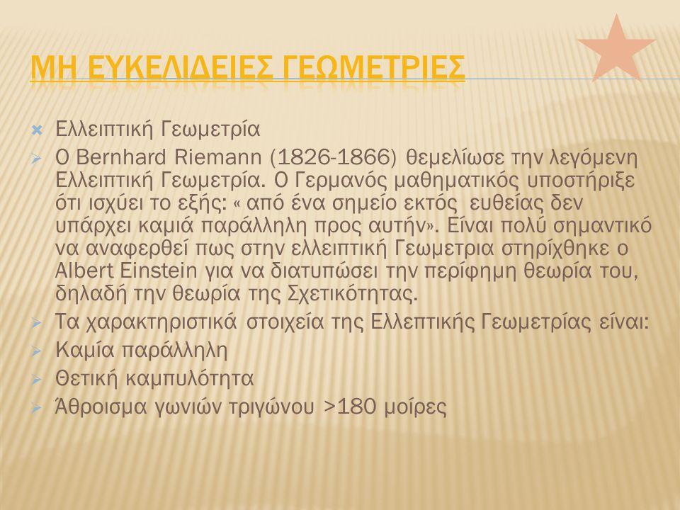 Μη Ευκελιδειεσ Γεωμετριεσ
