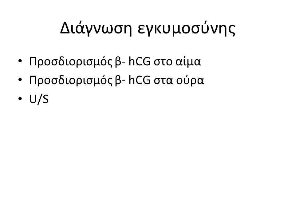 Διάγνωση εγκυμοσύνης Προσδιορισμός β- hCG στο αίμα