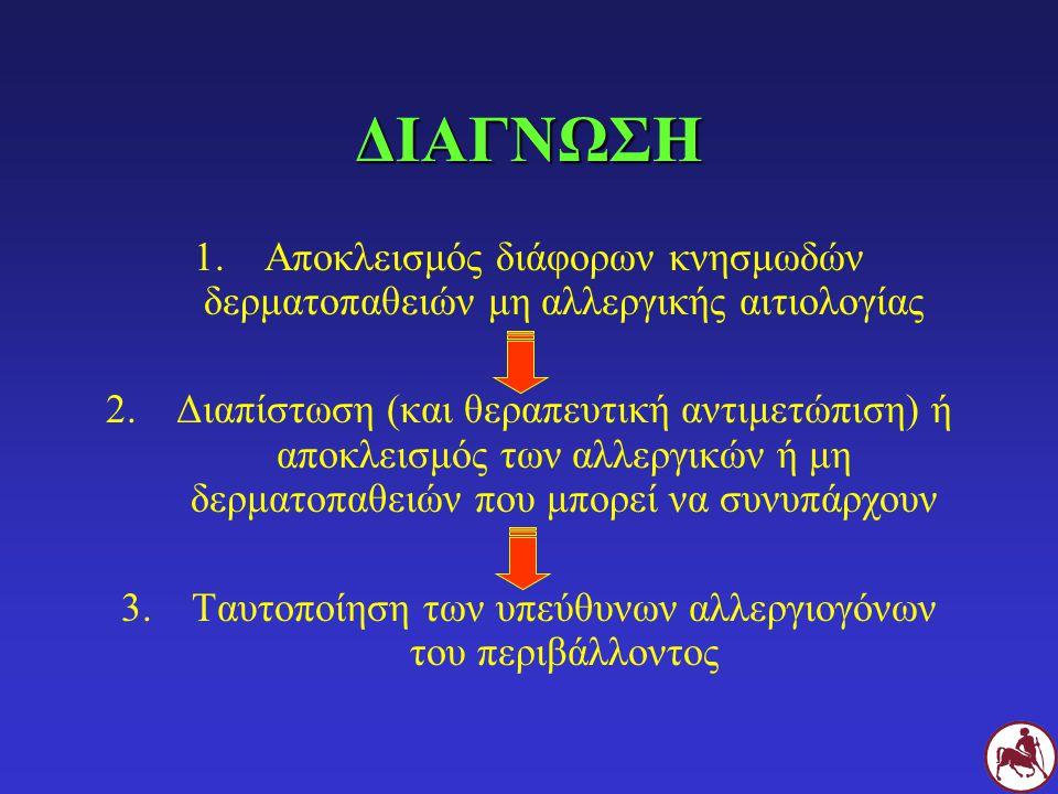 Ταυτοποίηση των υπεύθυνων αλλεργιογόνων του περιβάλλοντος