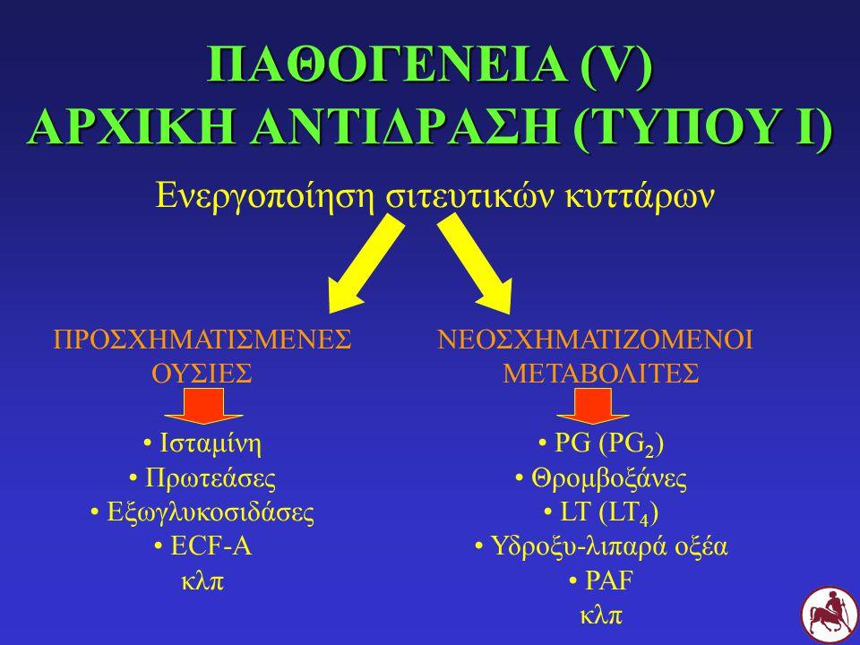 ΠΑΘΟΓΕΝΕΙΑ (V) ΑΡΧΙΚΗ ΑΝΤΙΔΡΑΣΗ (ΤΥΠΟΥ Ι)