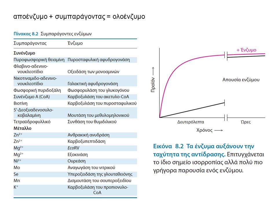 αποένζυμο + συμπαράγοντας = ολοένζυμο