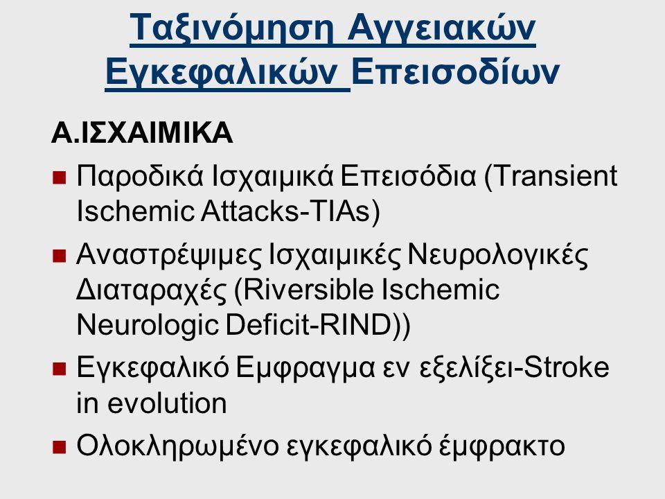 Ταξινόμηση Αγγειακών Εγκεφαλικών Επεισοδίων