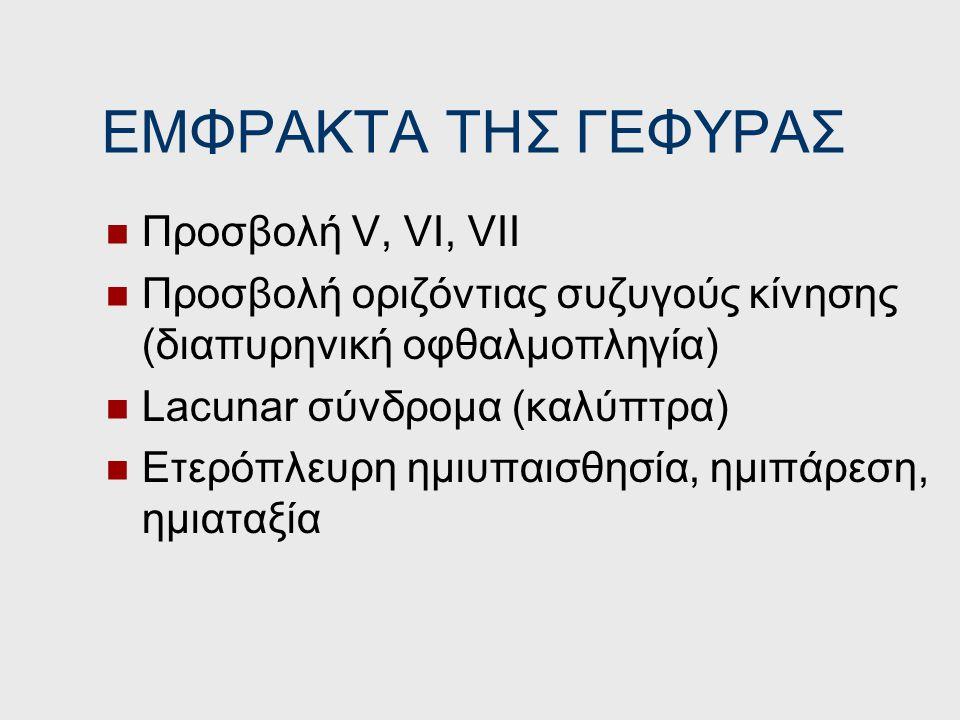 ΕΜΦΡΑΚΤΑ ΤΗΣ ΓΕΦΥΡΑΣ Προσβολή V, VI, VII