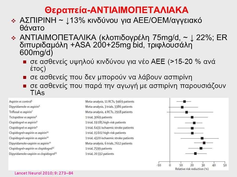 Θεραπεία-ΑΝΤΙΑΙΜΟΠΕΤΑΛΙΑΚΑ