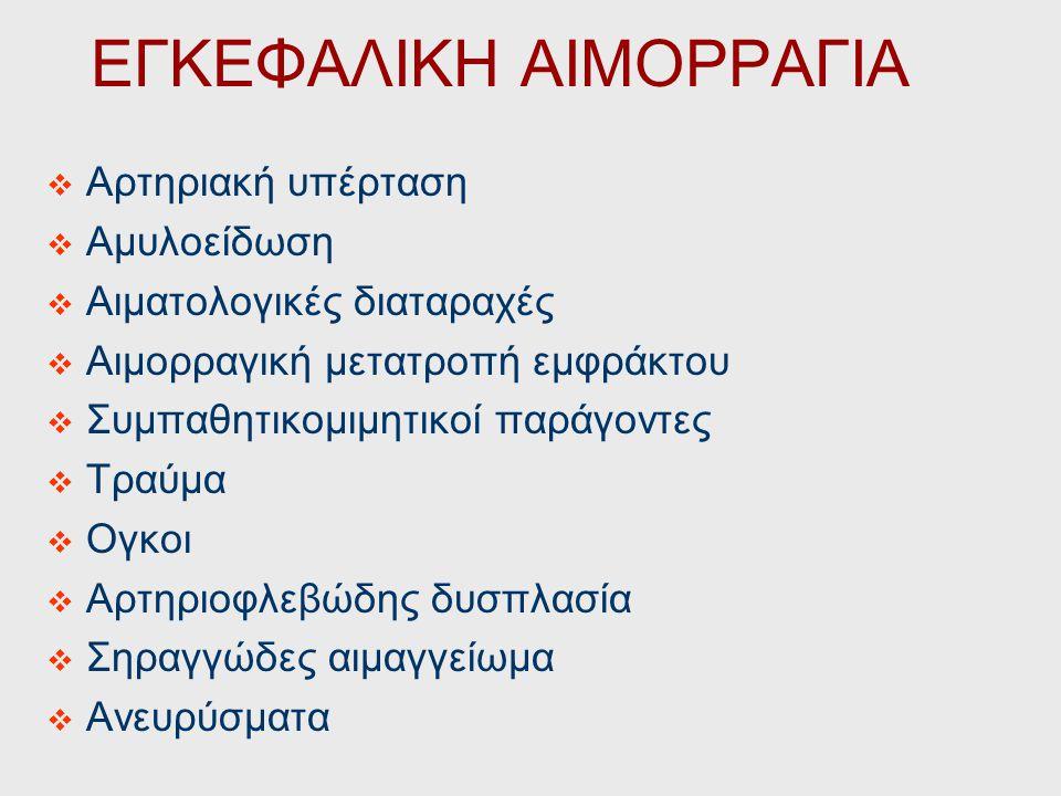 ΕΓΚΕΦΑΛΙΚΗ ΑΙΜΟΡΡΑΓΙΑ