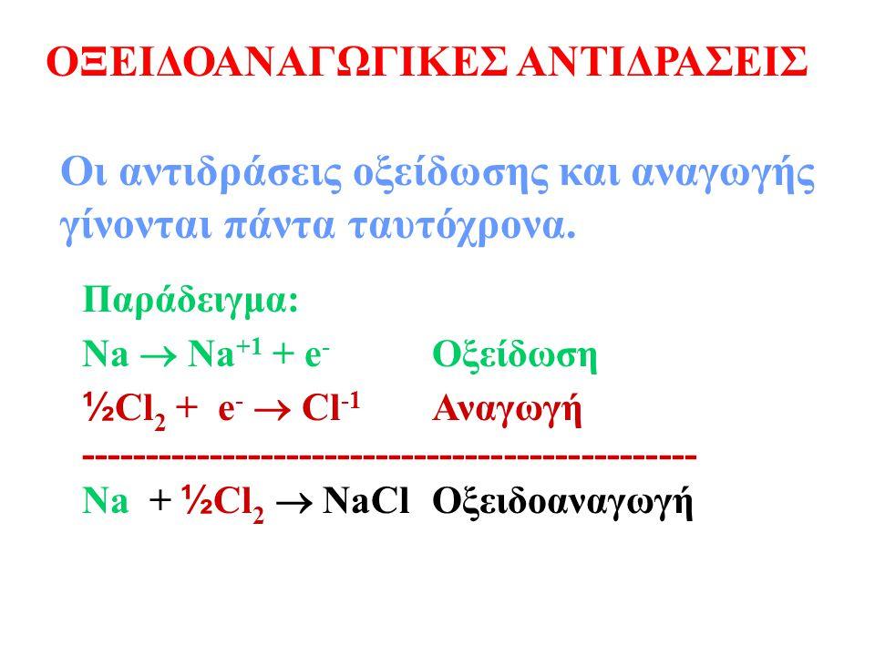ΟΞΕΙΔΟΑΝΑΓΩΓΙΚΕΣ ΑΝΤΙΔΡΑΣΕΙΣ