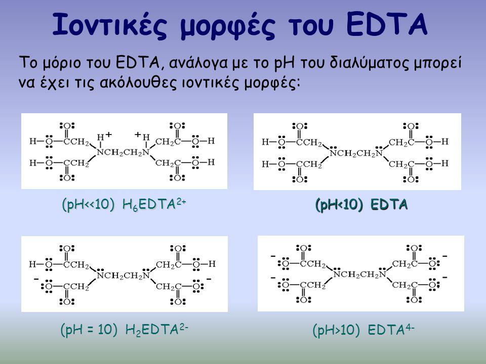 Ιοντικές μορφές του EDTA