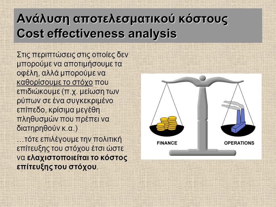 Ανάλυση αποτελεσματικού κόστους Cost effectiveness analysis