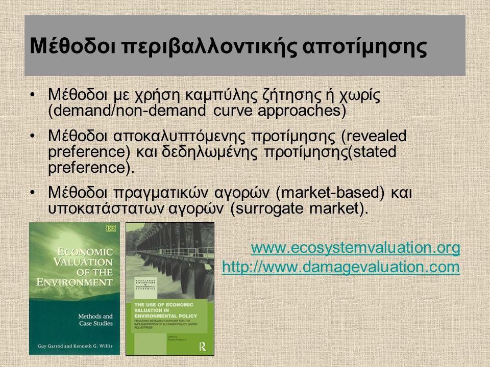 Μέθοδοι περιβαλλοντικής αποτίμησης