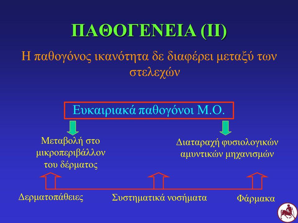 ΠΑΘΟΓΕΝΕΙΑ (ΙΙ) Η παθογόνος ικανότητα δε διαφέρει μεταξύ των στελεχών