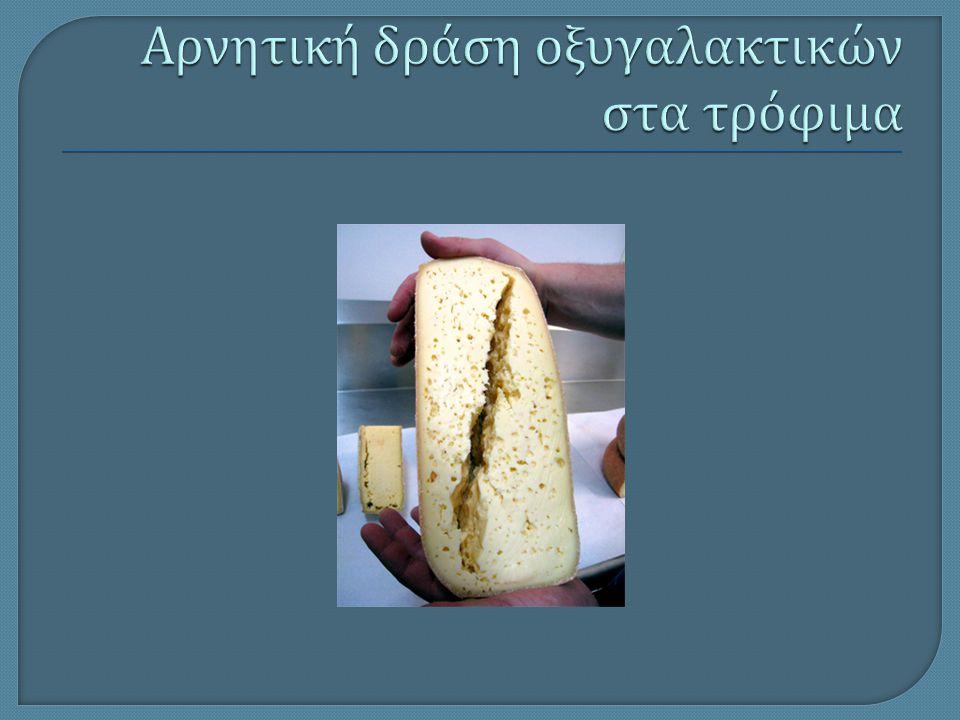 Αρνητική δράση οξυγαλακτικών στα τρόφιμα