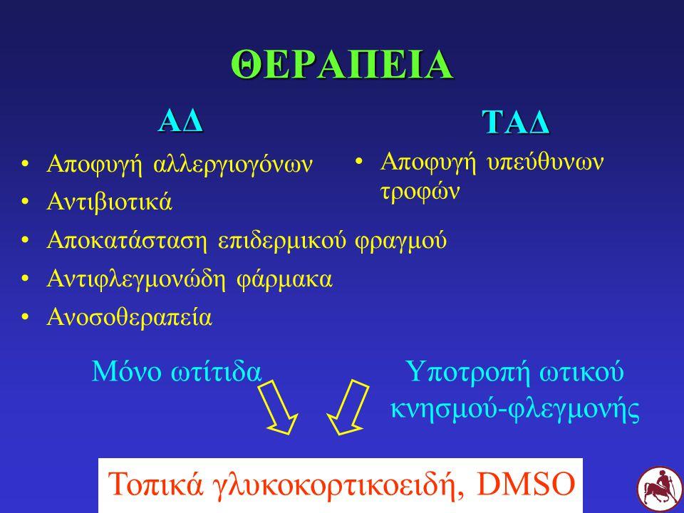 ΘΕΡΑΠΕΙΑ ΑΔ ΤΑΔ Τοπικά γλυκοκορτικοειδή, DMSO