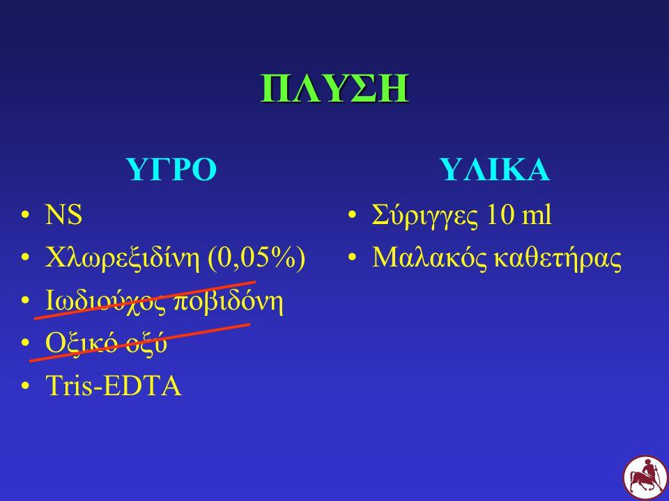 ΠΛΥΣΗ ΥΓΡΟ ΥΛΙΚΑ NS Χλωρεξιδίνη (0,05%) Ιωδιούχος ποβιδόνη Οξικό οξύ