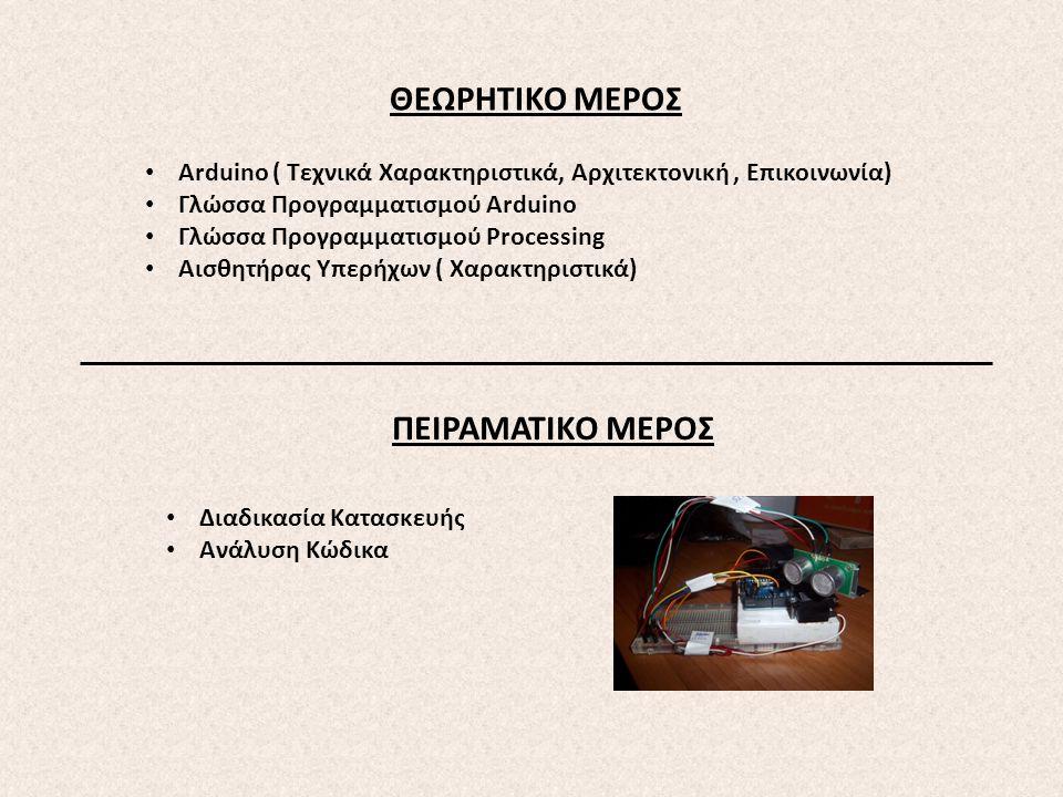 ΘΕΩΡΗΤΙΚΟ ΜΕΡΟΣ ΠΕΙΡΑΜΑΤΙΚΟ ΜΕΡΟΣ