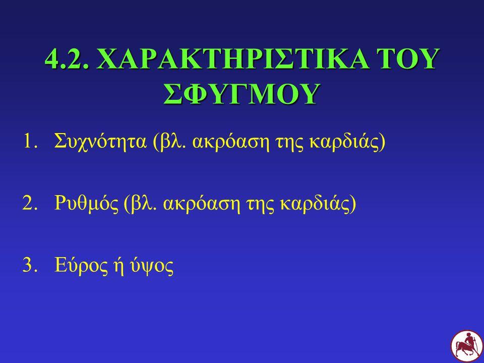 4.2. ΧΑΡΑΚΤΗΡΙΣΤΙΚΑ ΤΟΥ ΣΦΥΓΜΟΥ