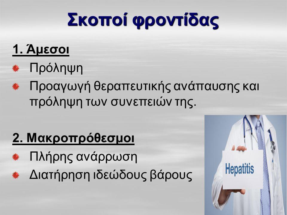 Σκοποί φροντίδας 1. Άμεσοι Πρόληψη