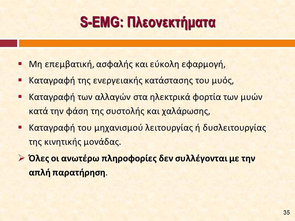 S-EMG: Μειονεκτήματα