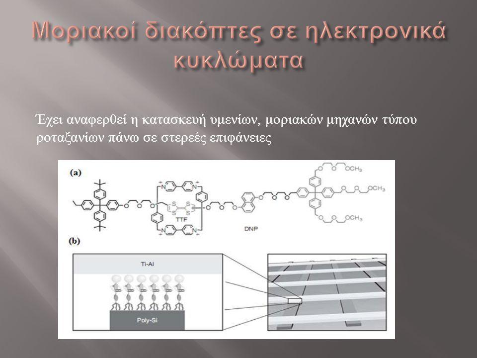 Μοριακοί διακόπτες σε ηλεκτρονικά κυκλώματα