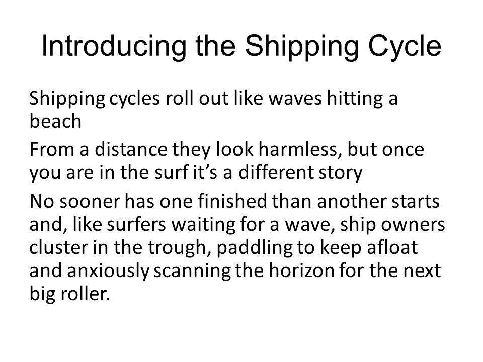 Introducing the Shipping Cycle