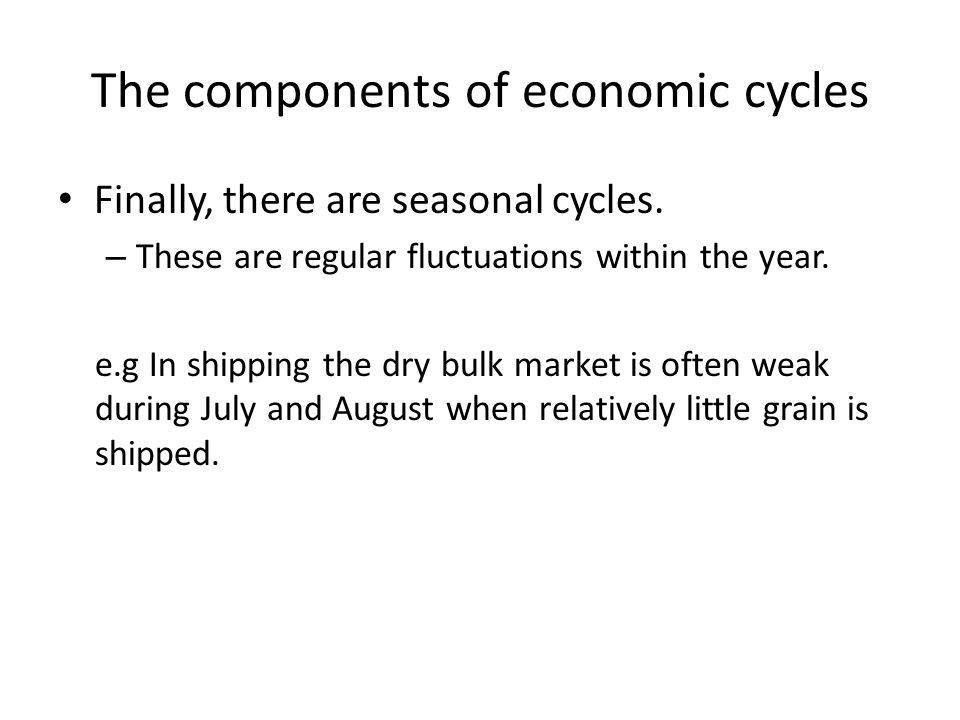 The components of economic cycles