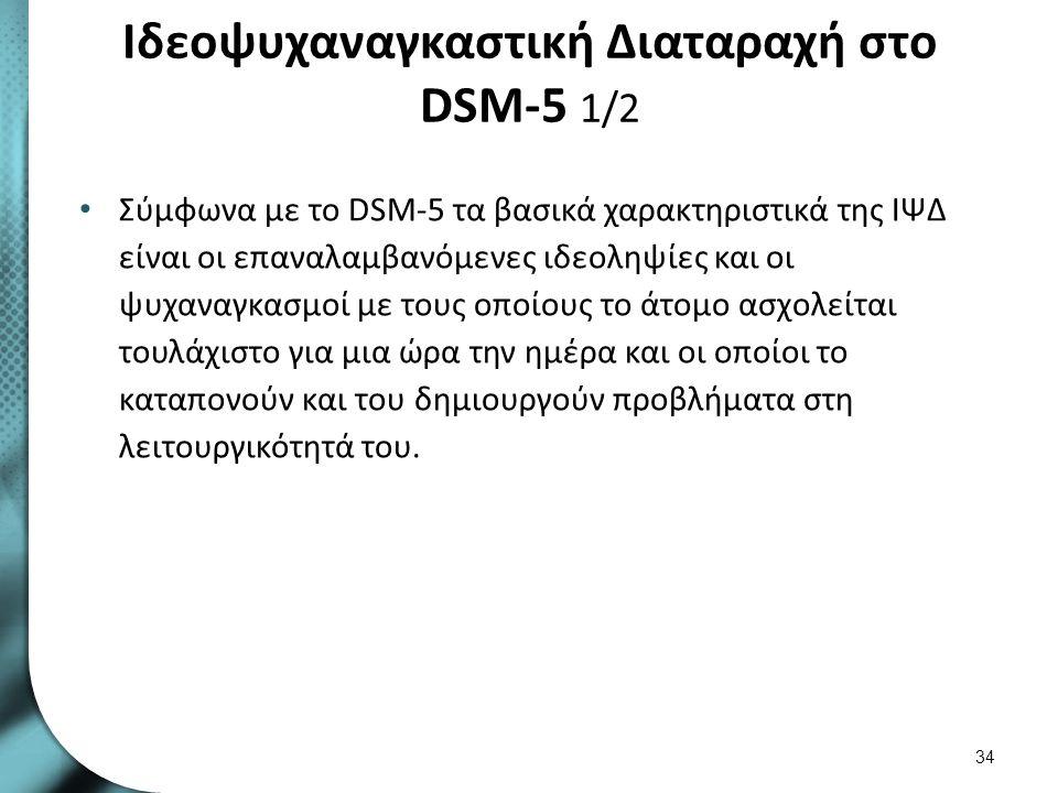 Ιδεοψυχαναγκαστική Διαταραχή στο DSM-5 2/2
