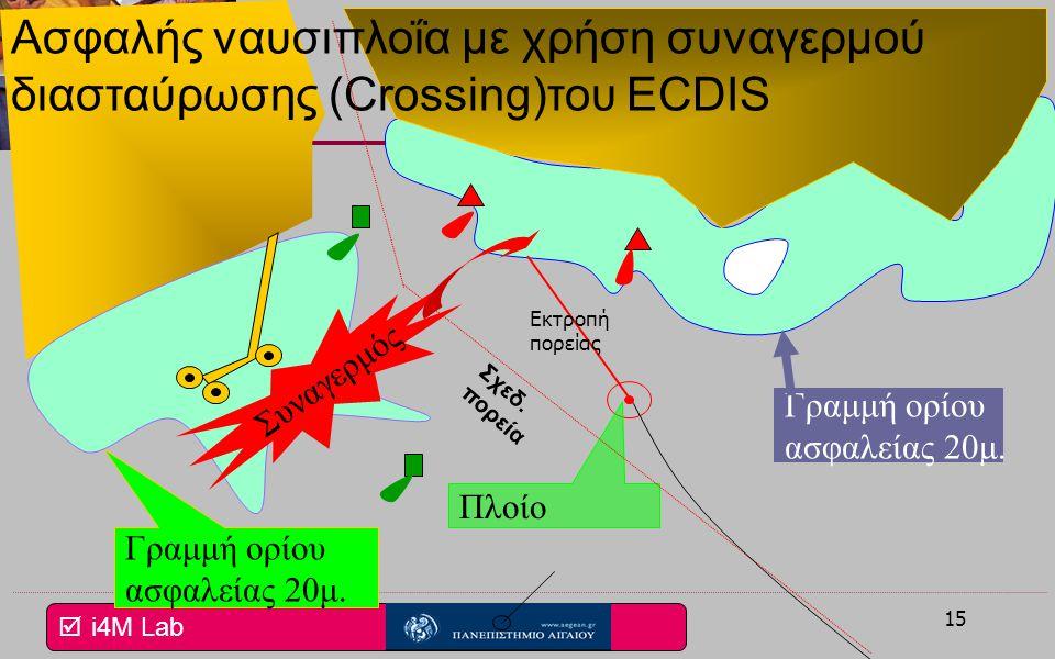 Ασφαλής ναυσιπλοΐα με χρήση συναγερμού διασταύρωσης (Crossing)του ECDIS