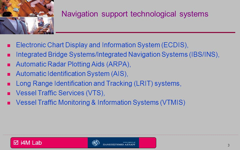 Navigation support technological systems