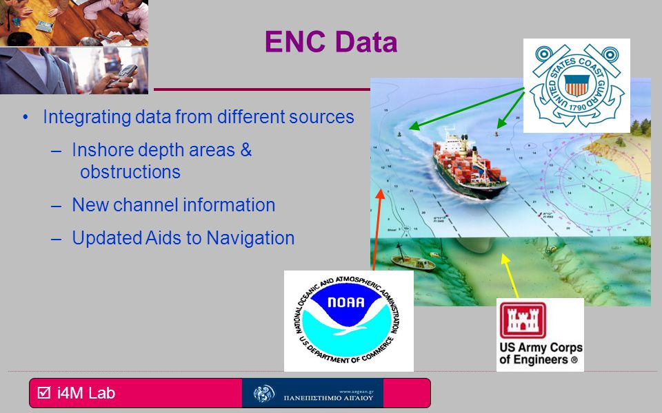 ENC Data Integrating data from different sources Inshore depth areas &