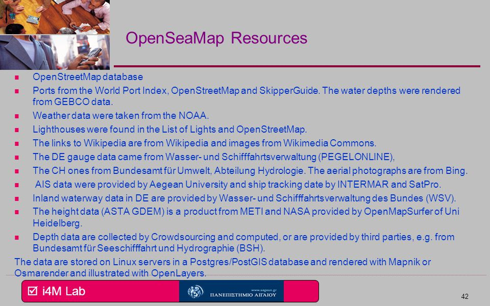 OpenSeaMap Resources OpenStreetMap database