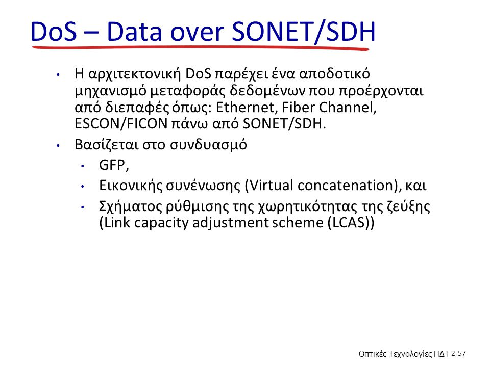 DoS – Data over SONET/SDH