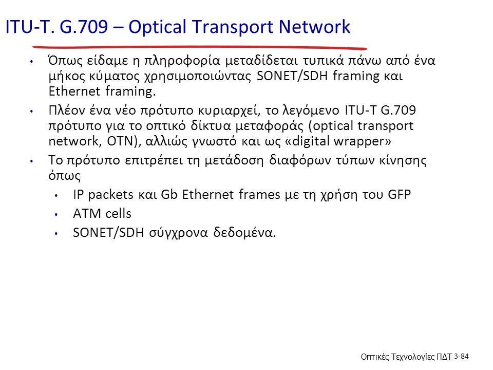 ITU-T. G.709 – Optical Transport Network